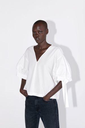 Zara Blouse en popeline