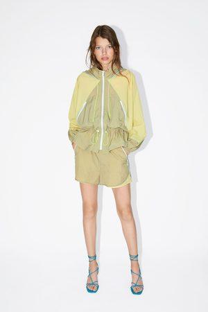 Zara Veste en nylon multicolore