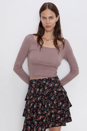 Zara Mini jupe imprimée à volants