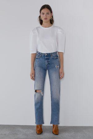 Zara T-shirt avec manches bouffantes