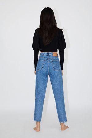 pantalon large jean femme zara