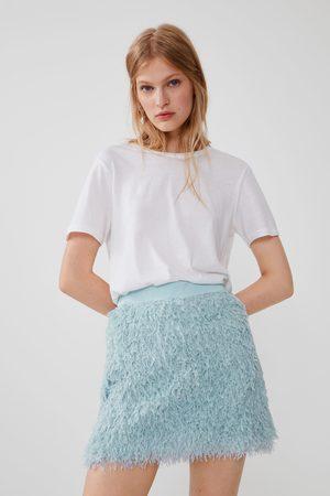 Zara Mini jupe effet plume