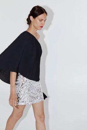 Zara Mini jupe à paillettes