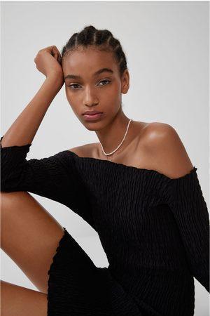 Zara Robe élastique à coutures