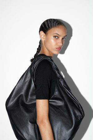 Zara Sac shopper en cuir ovale