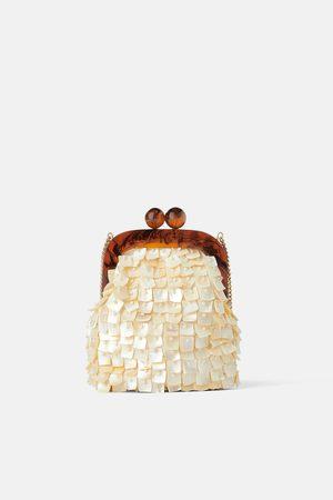 Zara Mini sac bandoulière avec fermoir porte-monnaie et verroteries