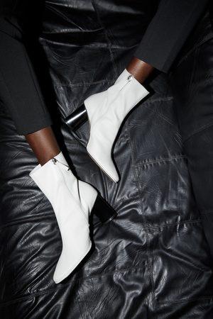 Zara Bottines à talons en cuir à contour