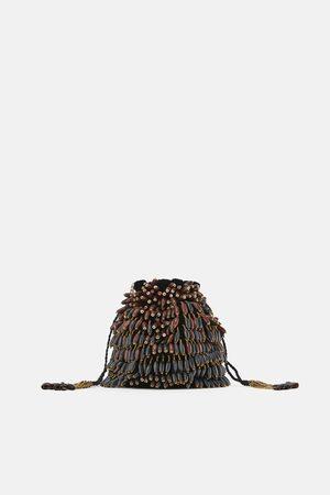 Zara Sac seau à boules en bois