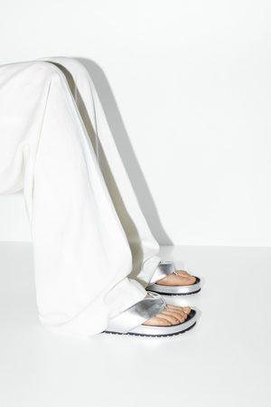 Zara Sandales plates rembourrées métallisées