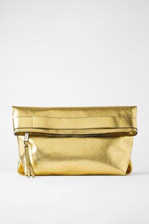 Zara Maxi sac enveloppe métallisé