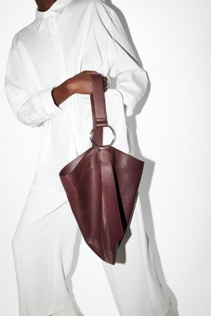 Zara Sac shopper en cuir plat