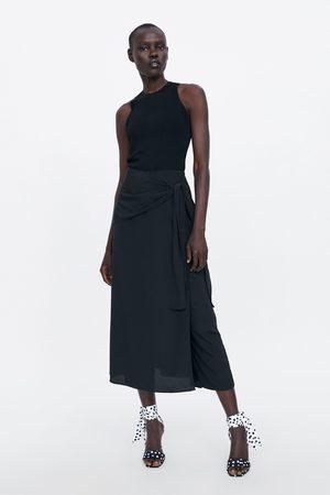Zara Jupe-pantalon avec nœud