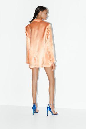 Zara Sandales à talons en cuir blue collection