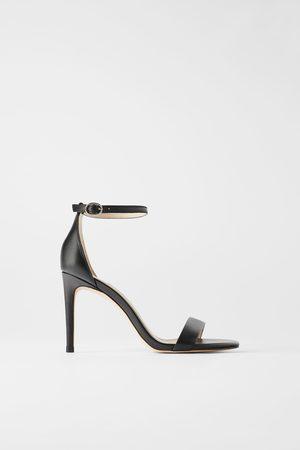 ramasser prix compétitif nouveau design Sandales à talons en cuir