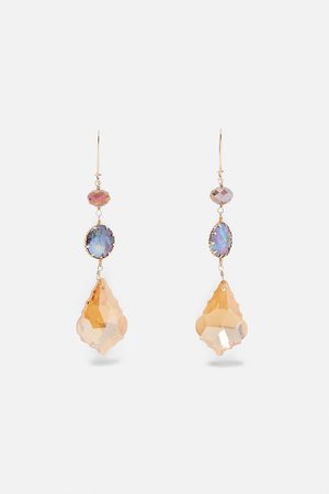Zara Boucles d'oreilles à perles irisées