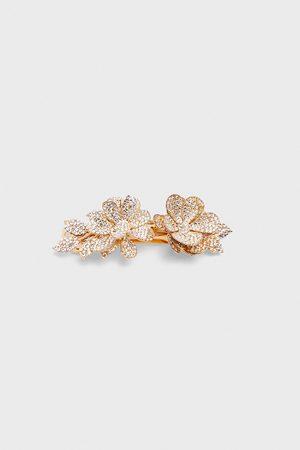 Zara Barrette à fleurs et strass