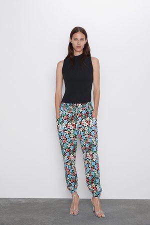 Zara Pantalon à imprimé floral