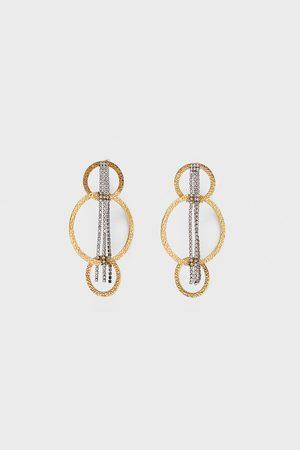 Zara Boucles d'oreilles à anneaux et chaînes
