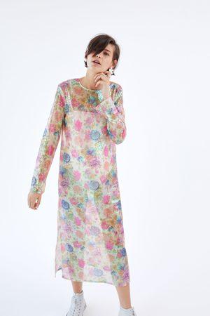 Zara Robe à paillettes imprimée