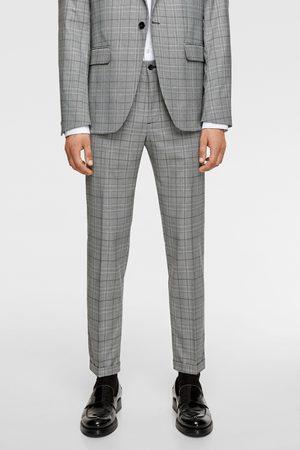 Zara Pantalon de costume structuré à carreaux