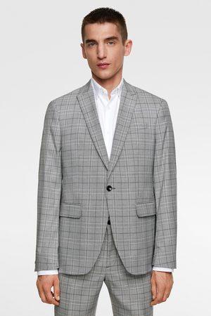 Zara Veste de costume structurée à carreaux