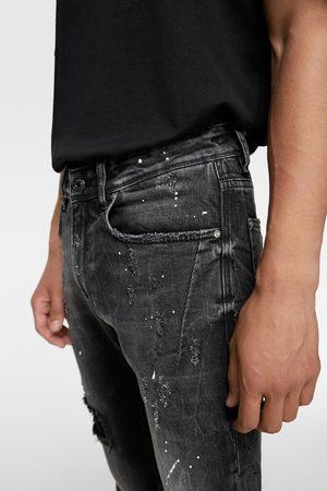 Zara Jean skinny à éclaboussures
