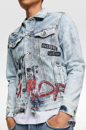 Zara Veste en jean à graffiti