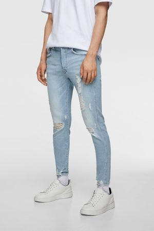 Zara Jean skinny avec bas déchiré