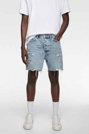 Zara Bermuda en jean déchiré