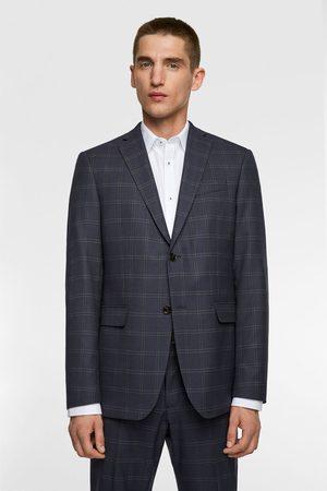 Zara Veste de costume à carreaux
