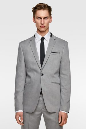 Zara Veste de costume structurée avec contraste