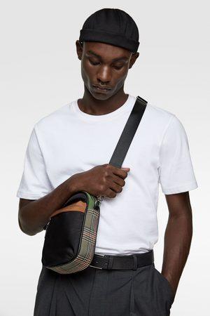Zara Mini sac bandoulière avec détail à carreaux