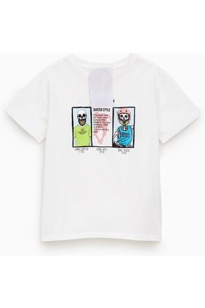 Zara T-shirt têtes de mort et pièces