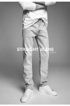 Zara Jean basique à coupe slim straight