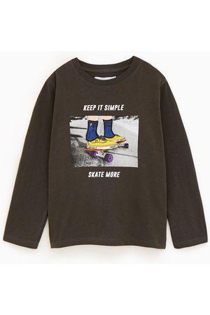 Zara T-shirt à motif skate