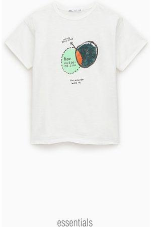 Zara T-shirt en jacquard imprimé