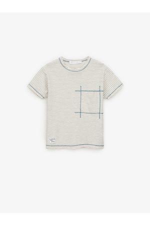 Zara T-shirt brodé à rayures