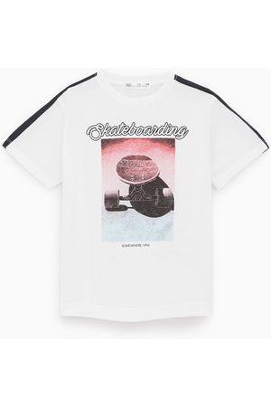 Zara T-shirt à imprimé photographique