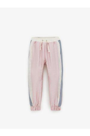 Zara Pantalon color block brillant