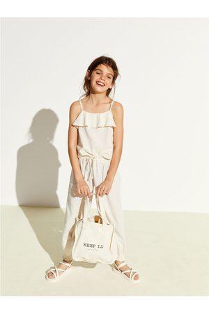Zara Pantalon en lin élastique d'ensemble