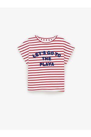 Zara T-shirt à rayures et inscription