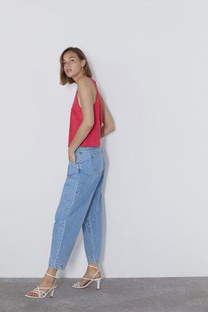 Zara Femme Tops & T-shirts - Top à encolure américaine en suédine
