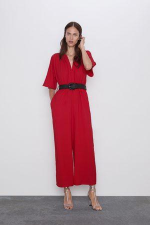 Zara Combinaison avec ceinture bimatière