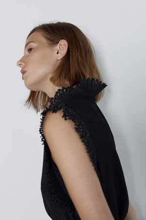 Zara T-shirt with pleated detail