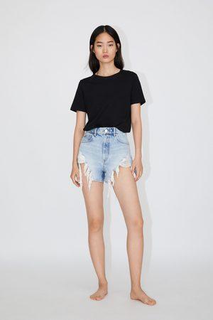 Zara Short en jean taille haute avec déchirures