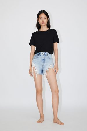 Acheter Shorts en jean femme Zara en Ligne