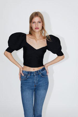 Zara Jean pantacourt flare taille normale