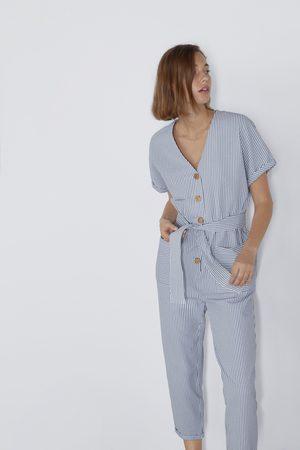 Zara Femme Combinaisons - Combinaison à rayures et boutons