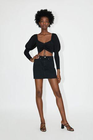 Zara Femme Mini-jupes - Mini jupe en jean
