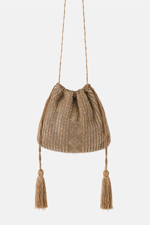 Zara Femme Sacs en bandoulière - Mini sac bandoulière brillant